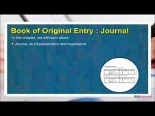 Class 11 Accounts - Book Of Original Entry - Journal Video by MB
