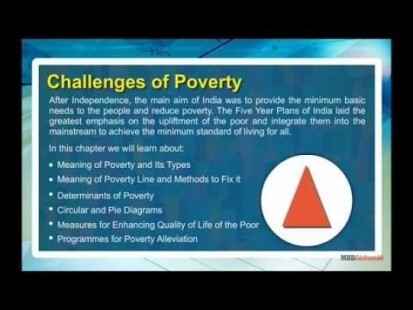 Class 11 Economics - Challenges Of Poverty Video by MBD Publishers
