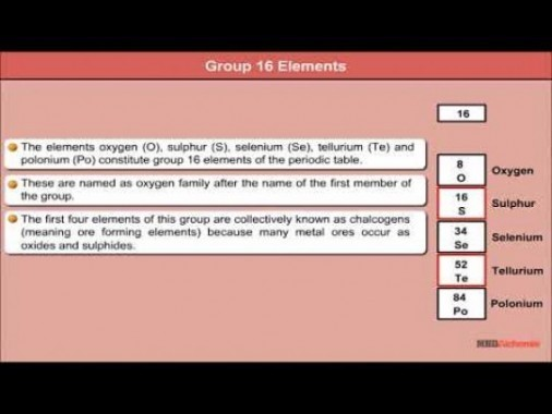 Class 12 Chemistry - Characteristics Of Group 16 Elements Video by MBD Publishers