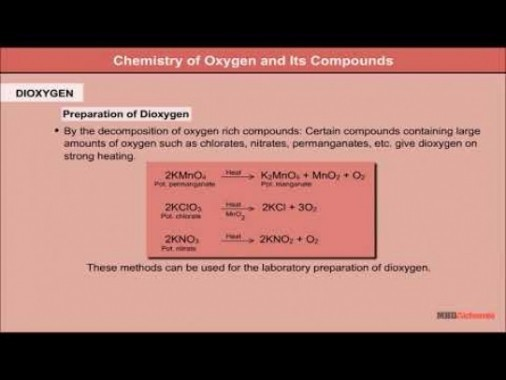 Class 12 Chemistry - Chemistry Of Oxygen And Its Compounds Video by MBD Publishers