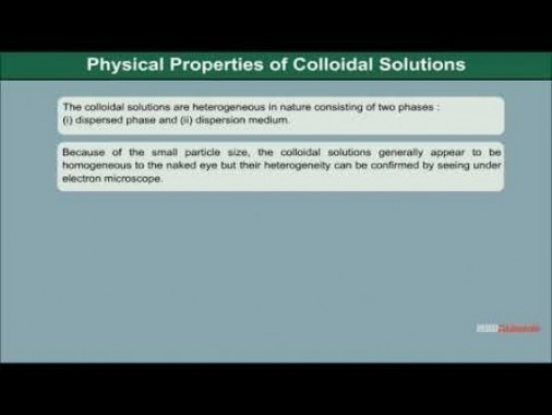 Class 12 Chemistry - Classification Of Colloids Video by MBD Publishers