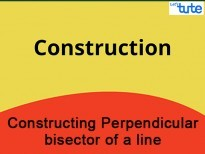 Class IX Maths - Constructing Perpendicular Bisector Of A Line Video By Lets Tute