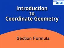 Class 10 Mathematics - Coordinate Geometry - Section Formula Video by Lets Tute