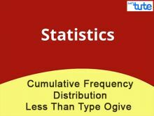 Class 10 Mathematics - Cumulative Frequency Distribution - Less Than Type Ogive Video by Lets Tute