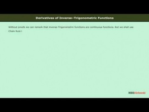 Class 12 Maths - Derivatives Of Inverse Trignometric Functions Video by MBD Publishers