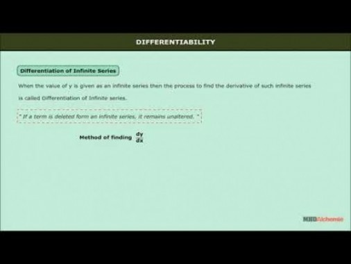 Class 12 Maths - Differentiation Of Infinite Series And Parametric Equations Video by MBD Publishers