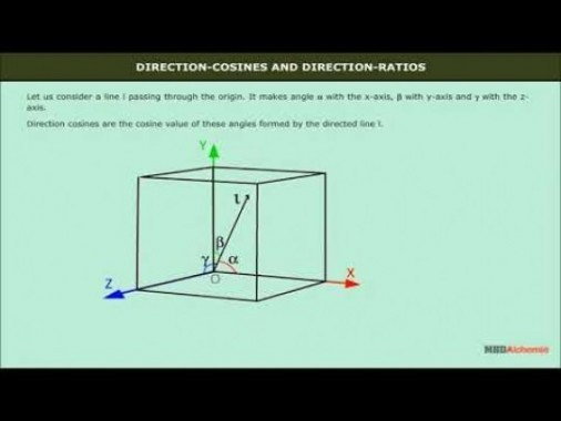 Class 12 Maths - Direction Cosines And Direction Ratios Video by MBD Publishers