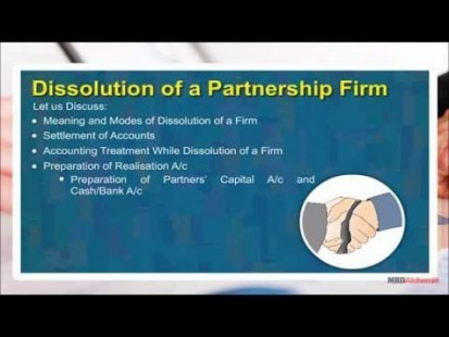 Class 12 Accounts - Dissolution Of A Partnership Firm Video by MBD Publishers