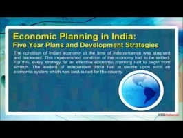 Class 11 Economics - Economic Planning In India - Five Year Plans And Development Strategies Video by MBD Publishers