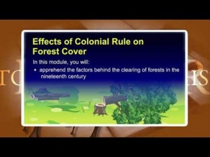 Class 9 History - Effect Of Conolial Rule On Forest Video by MBD Publishers