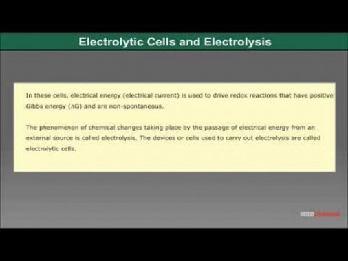 Class 12 Chemistry - Electrolytic Cell And Electrolysis Video by MBD Publishers