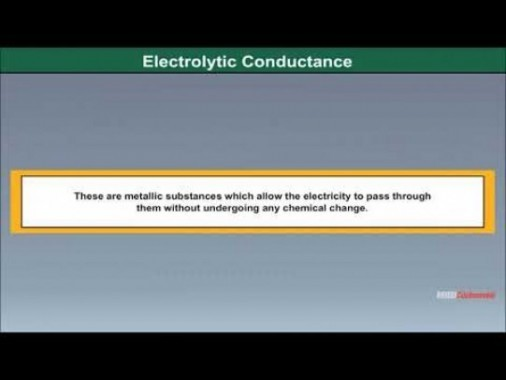 Class 12 Chemistry - Electrolytic Conductance Video by MBD Publishers