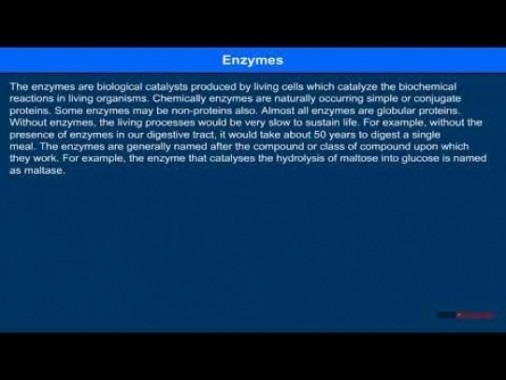 Class 12 Chemistry - Enzymes Video by MBD Publishers