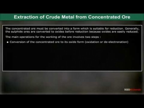 Class 12 Chemistry - Extraction Of Crude Metal Video by MBD Publishers