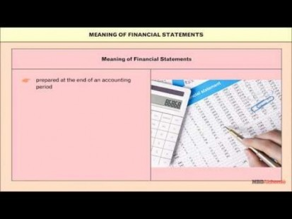Class 11 Accounts - Financial Statements Video by MBD Publishers