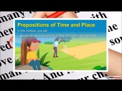 Class 9 English - Grammar Prepositions Place And Time Video by MBD Publishers