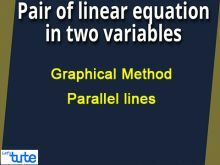 Pair Of Linear Equations In Two Variables - Graphical Method - Parallel lines Video By Lets Tute