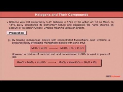 Class 12 Chemistry - Halogens And Their Compounds Video by MBD Publishers