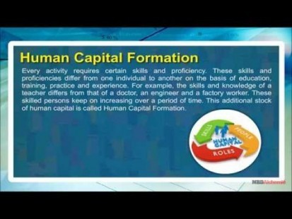 Class 11 Economics - Human Capital Formation Video by MBD Publishers