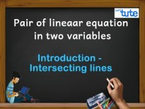 Pair Of Linear Equations In Two Variables - Introduction - Intersecting lines Video By Lets Tute