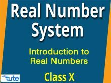 Class 9 & 10 Mathematics - Introduction To Real Numbers Video by Lets Tute