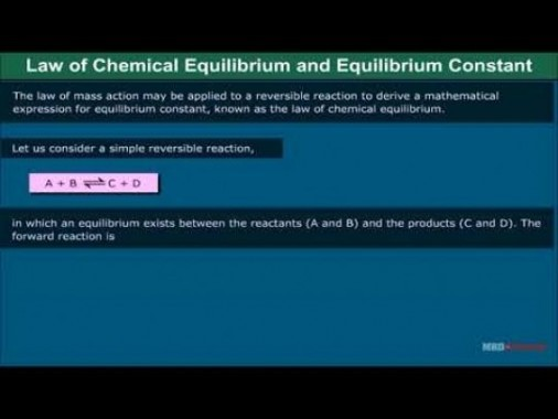 Class 11 Chemistry - Law Of Chemical Equilibrium And Equilibrium Constant Video by MBD Publishers