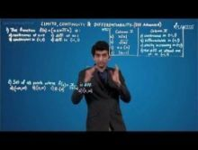 Limits Continuity And Differentiability - JEE Advanced Problems Video By Plancess