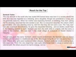 Class 9 English - Literature Beehive Reach For The Top Video by MBD Publishers