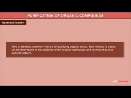 Class 11 Chemistry - Methods Of Purification Of Organic Compounds Video by MBD Publishers