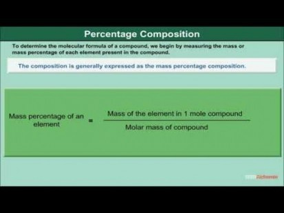 Class 11 Chemistry - Percentage Composition Video by MBD Publishers