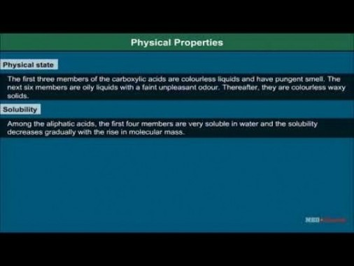 Class 12 Chemistry - Physical Properties Of Carboxylic Acids Video by MBD Publishers