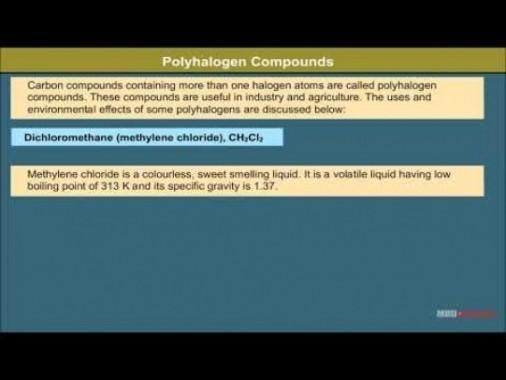 Class 12 Chemistry - Polyhalogen Compounds Video by MBD Publishers