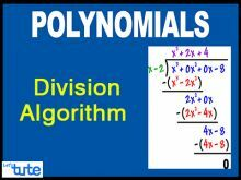 Class 10 Mathematics - Polynomials - Division Algorithm Video by Lets Tute