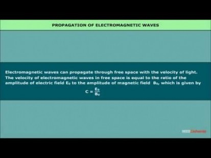 Class 12 Physics - Propogation Of Electromagnetic Waves Video by MBD Publishers