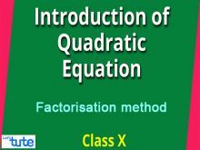 Class 10 Mathematics - Quadratic Equations - Introduction And Factorization Method Video by Lets Tute