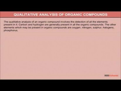Class 11 Chemistry - Qualitative Analysis Of Organic Compounds Video by MBD Publishers