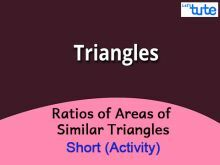 Class 10 Mathematics - Ratios Of Areas Of Similar Triangles Video by Lets Tute