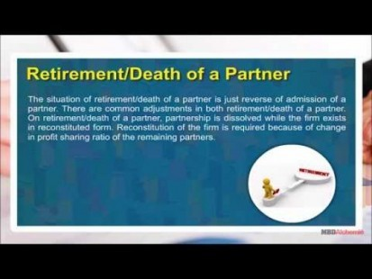 Class 12 Accounts - Retirement - Death Of A Partner Video by MBD Publishers