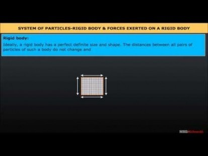 Class 11 Physics - Rigid Body And Force Exerted On A Rigid Body Video by MBD Publishers