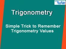 Class 10 Mathematics - Simple Trick To Remember Trigonometry Values Video by Lets Tute