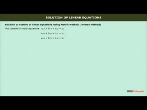 Class 12 Maths - Solution Of Linear Equation Using Matrix Video by MBD Publishers