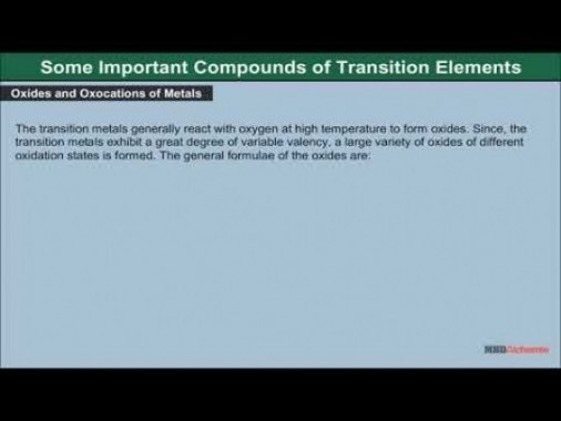 Class 12 Chemistry - Some Important Compounds Video by MBD Publishers