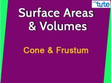 Class 9 & 10 Mathematics - Surface Area And Volume Of Cone And Frustum Video by Lets Tute