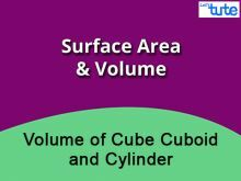 Class 9 & 10 Mathematics - Surface Area Of Volume Cube - Cuboid And Cylinder Video by Lets Tute