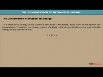 Class 11 Physics - The Conservation Of Mechanical Energy Video by MBD Publishers