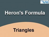Class IX Maths - Triangles - Herons Formula Video By Lets Tute