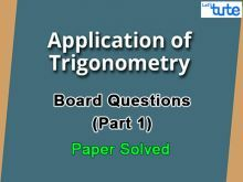 Class 10 Mathematics - Trigonometry Board Questions 2015 Part 1 Video by Lets Tute