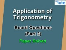 Class 10 Mathematics - Trigonometry Board Questions 2015 Part 2 Video by Lets Tute