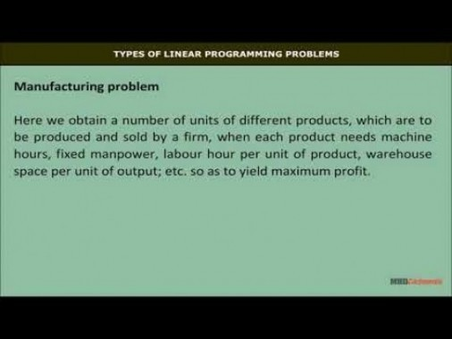 Class 12 Maths - Types Of Linear Programming Problems Video by MBD Publishers