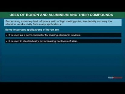 Class 11 Chemistry - Uses Of Boron And Aluminium And Their Compounds Video by MBD Publishers